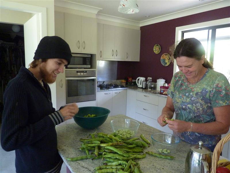 shelling beans, oh yeah