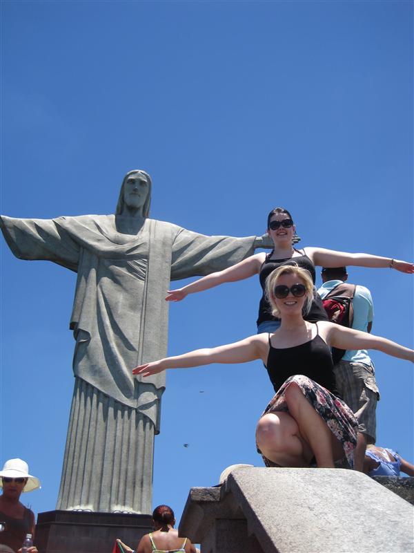 Us being hilaaaaaarious at the Christ Statue