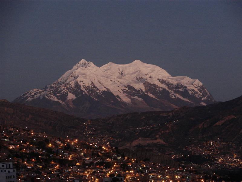 La Paz & Mt. Illamani, 6402m