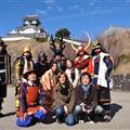 Kakegawa castle with samurai`s