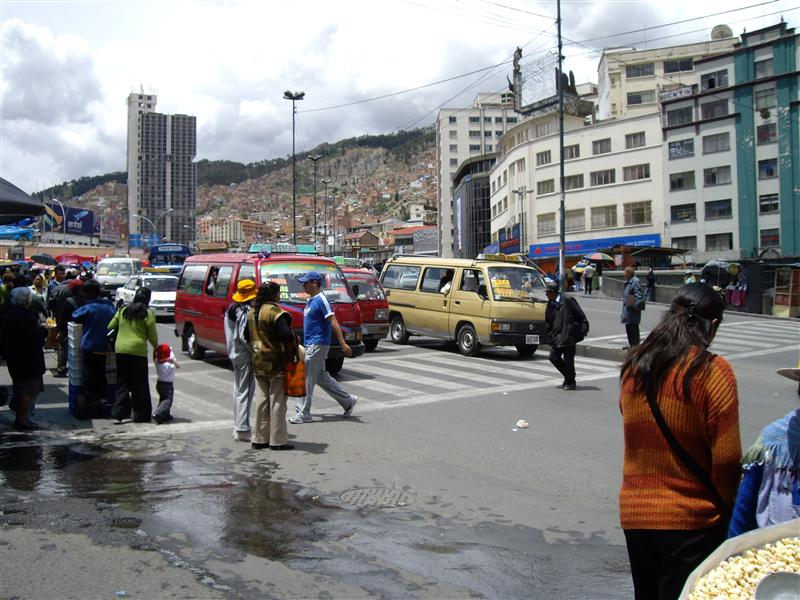The main road in La Paz