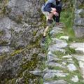 Joho trying the inca stairs at some more ruins