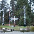 Totem poles in Stanley Park