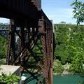 Niagara Falls old bridge to the USA
