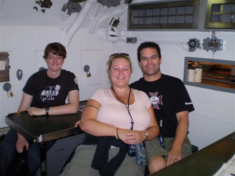 Andy, Lisa and I onboard the submarine