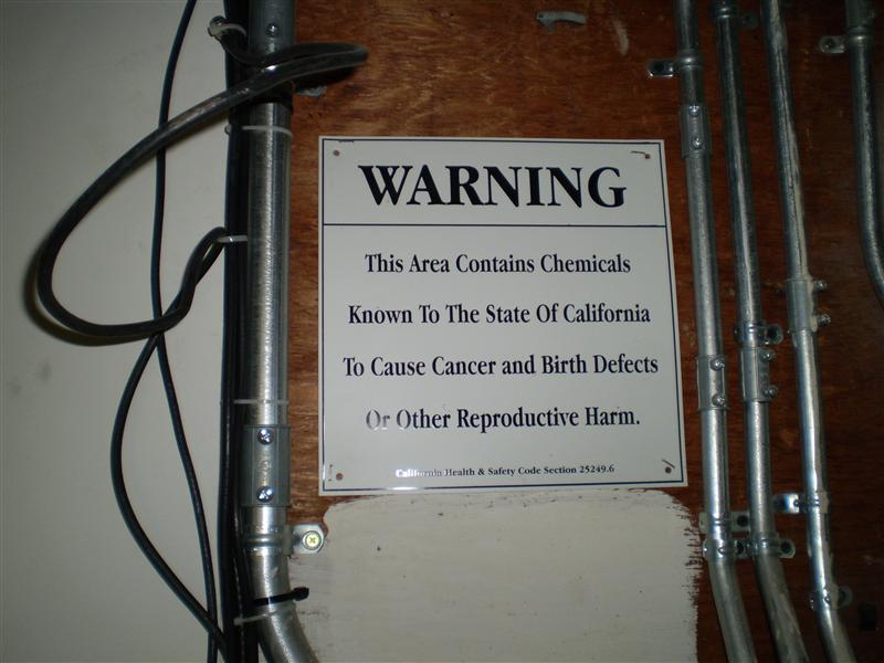 The Warning in my Basement - I live here, so I wasn't thrilled
