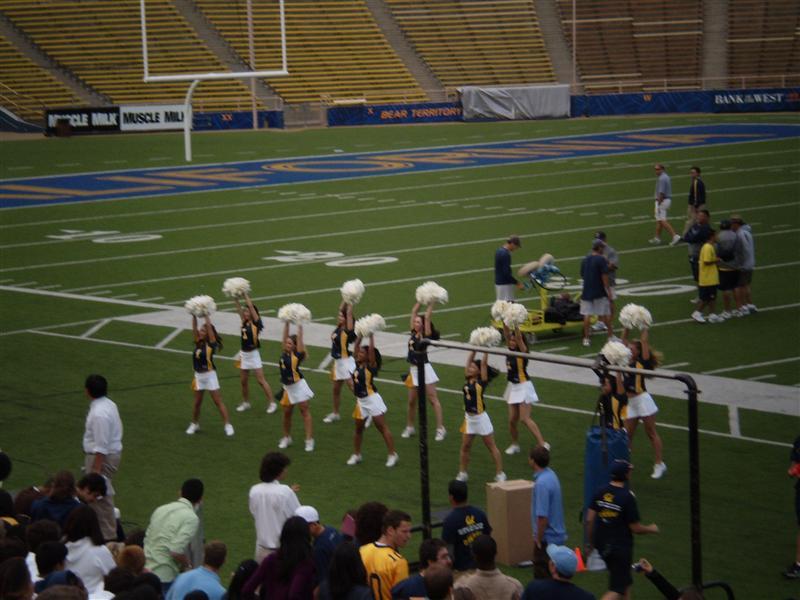 Cheerleaders. They weren't that great.