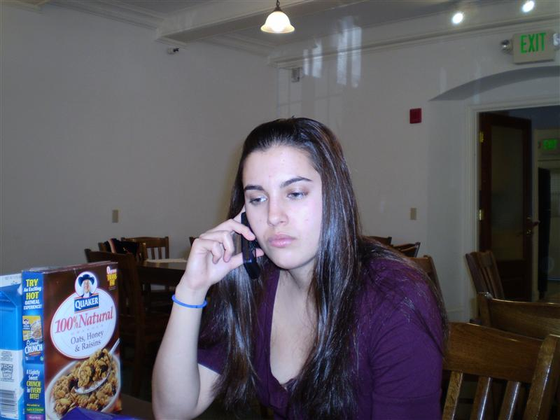 Serenna, on the phone. North house!