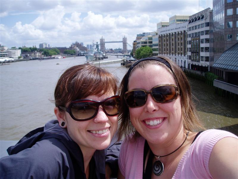 Estelle and I with Tower of London in background