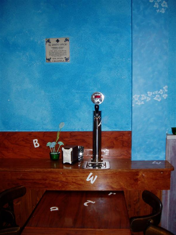 Beer tap at table with digital read out of how much is poured.....makes bartending easy!