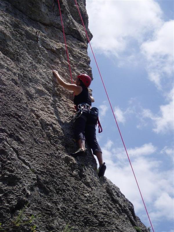 Estelle Climbing at Montral climbing area