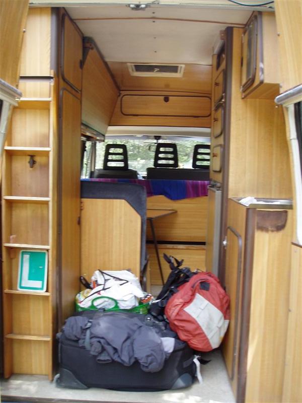 Inside of my new camper van