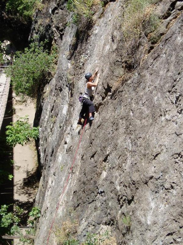Me climbing at Monchil climbing area in Granada