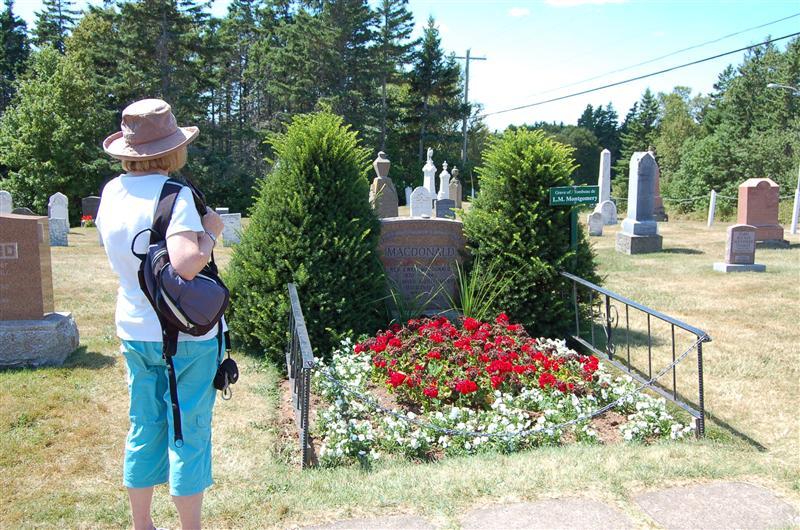 LM Montgomery's grave