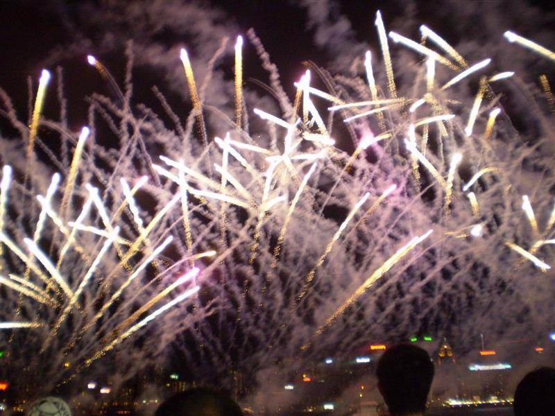 Fireworks on boulovard of the stars