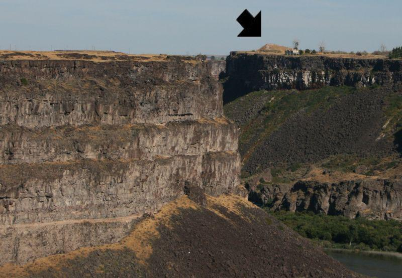 Location of Evel Knievel Snake River Canyon Jump