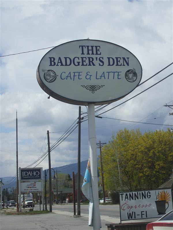 """We ate there... Notice the sign below that says """"tanning""""...."""