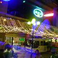 Glittering awning outside Hotel 2007-07-24 22:52