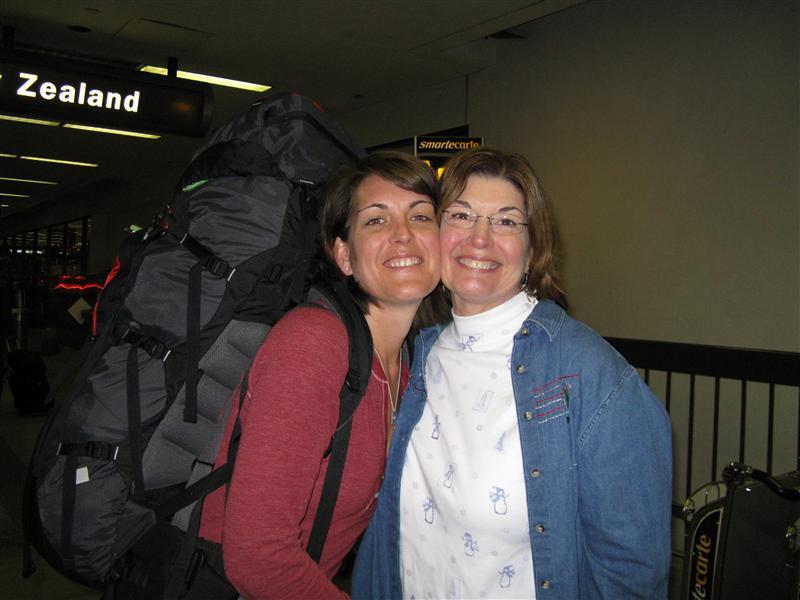 Goodbyes at LAX - miss you Mom!