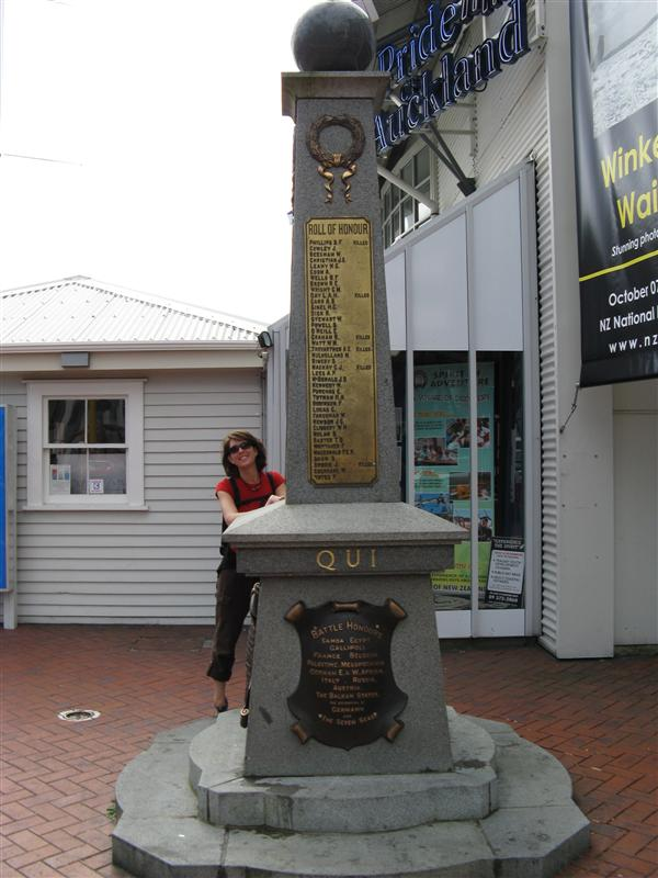 We spend a few hours walking around the Auckland waterfront and harbour