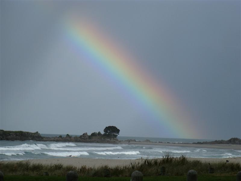 With the rainy weather comes a gorgeous rainbow - this one's for Brian and my Dad...