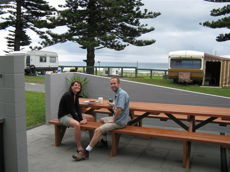 Breakfast before leaving Mt. Maunganui (includes mimosas!)