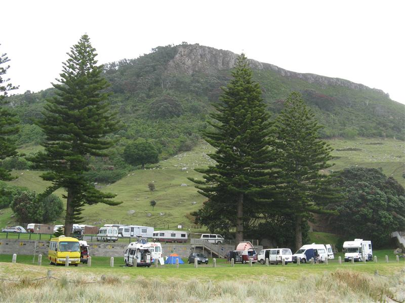 Photo of our campsite from Main Beach inMt. Maurangui