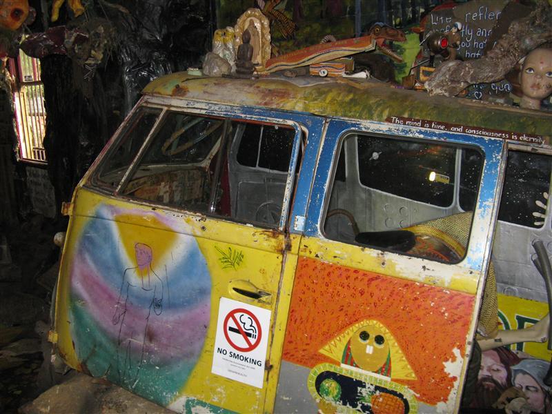Inside the Nimbin Museum - cool hippee bus