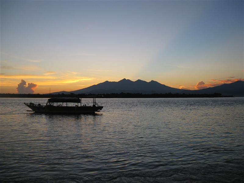 Sunrise at Gili T.