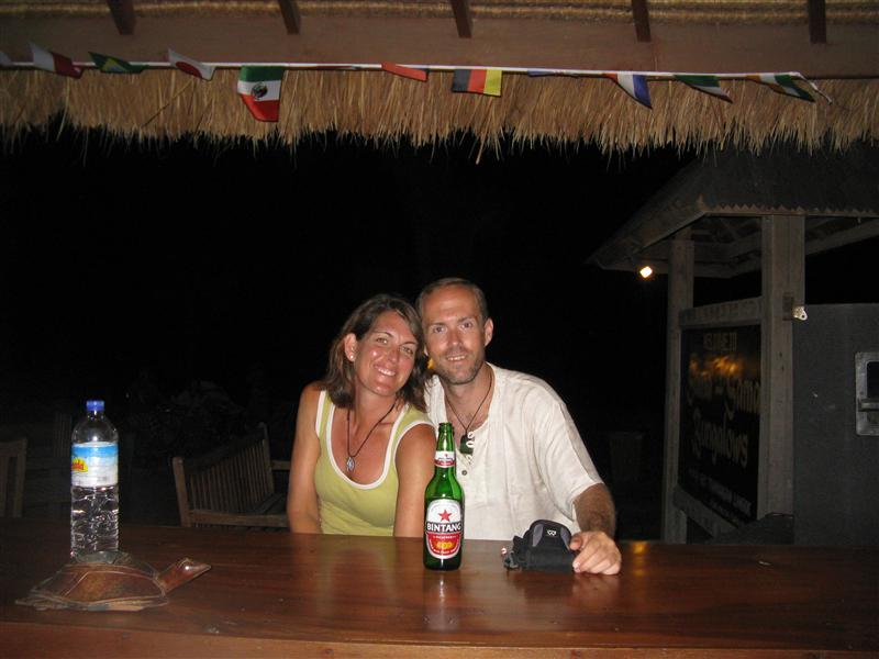 Hanging with our friends at Sama Sama in Gili T.
