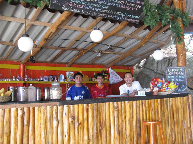 The lovely staff at Ocean View Hotel in Koh Phangan