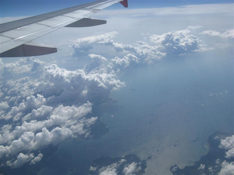 Malaysian Islands coming into view
