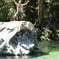 Yep, tim's jumping into the water... yippee!