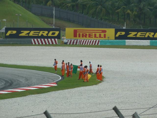 Stewards celebrating the work being over