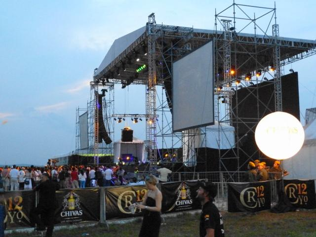 Concert stage at GP