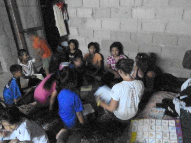 Teaching the local kids
