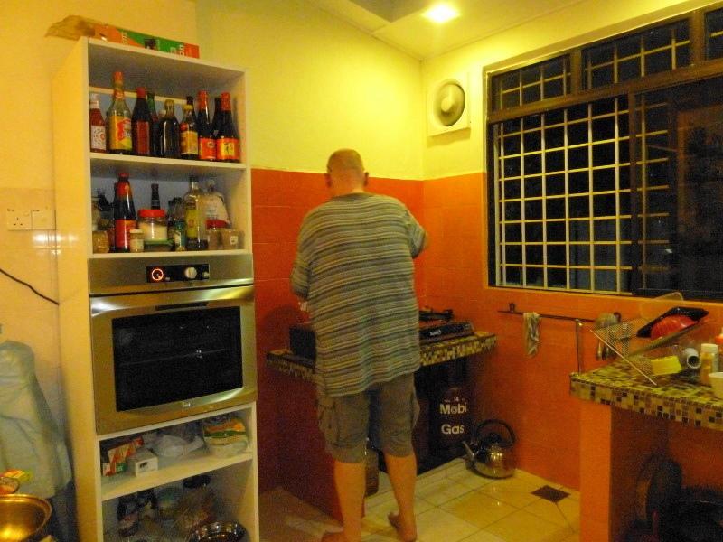 Chris cooking