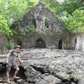 Old church destroyed by the lava