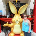 A huge bunny