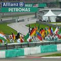 All the flags before the race