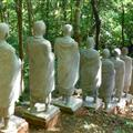 Buddhist monk statues