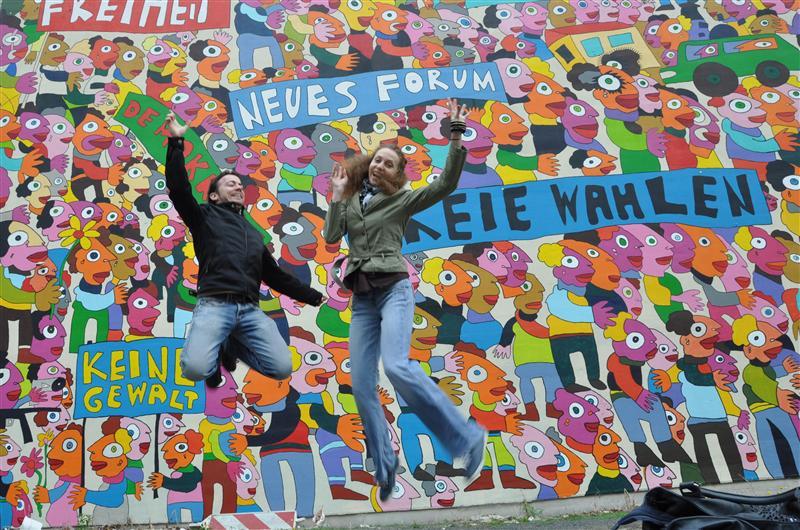 Jumping in Leipzig