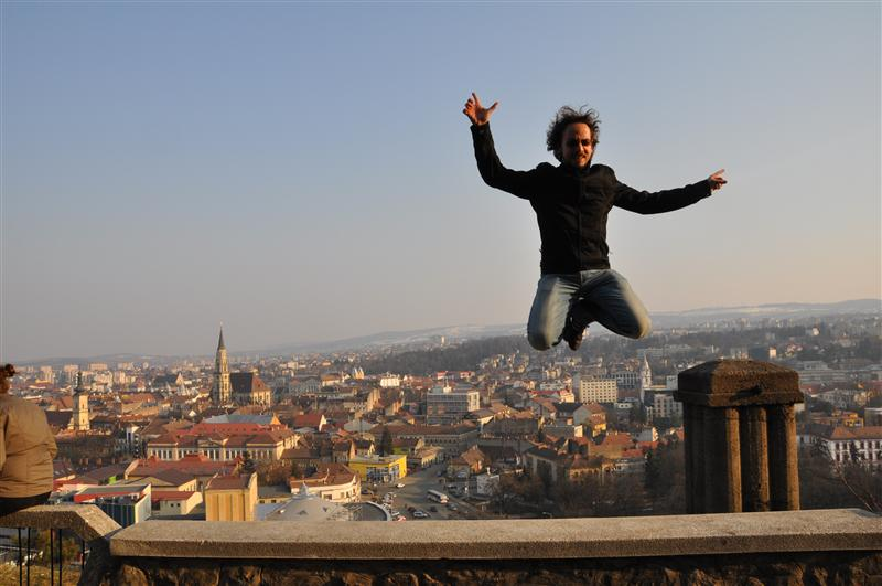 Jumping over Cluj Napoca