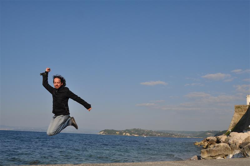 Jumping in Piran