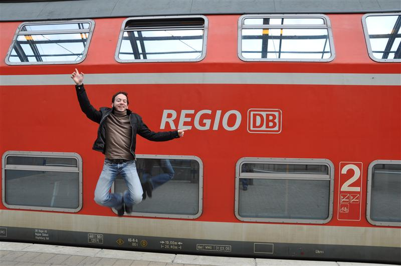 Train Jumping in Halle