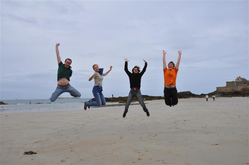 Jumping in Saint Malo