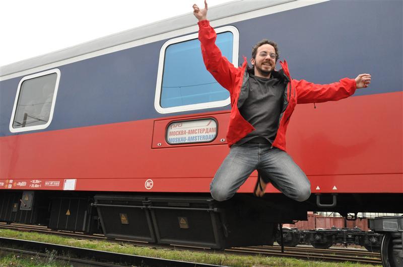 Jumping in Brest on Belarus border