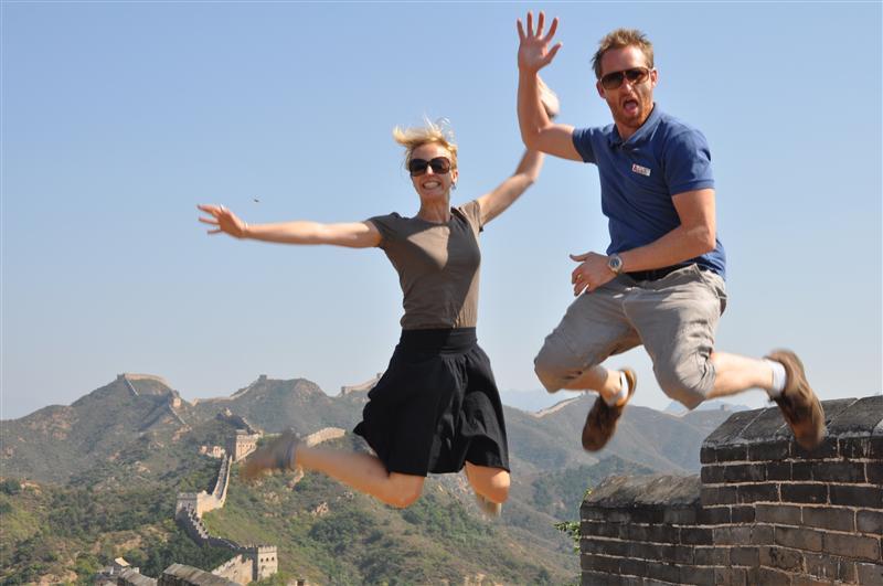 Hannah & Troy, crazy Kiwi jumping style !
