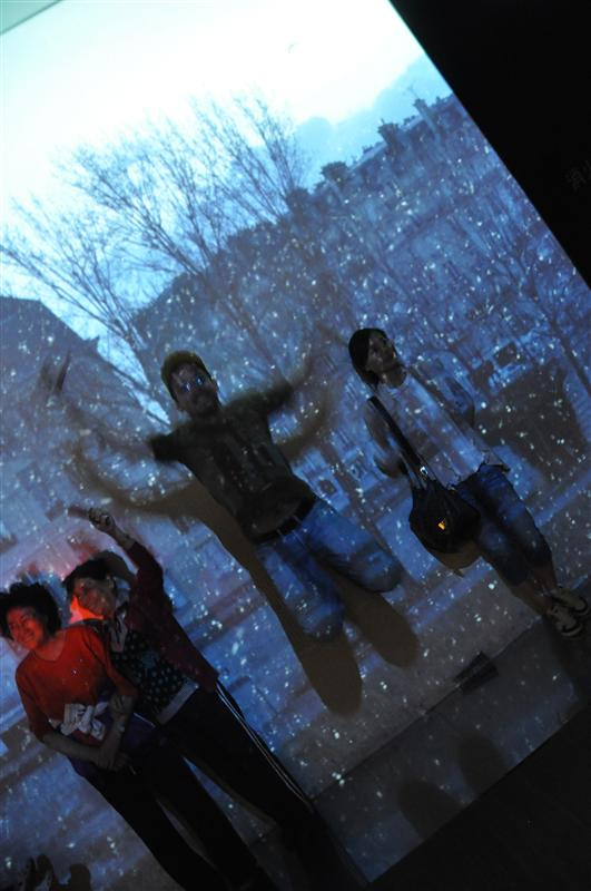 Snow jumping in France pavillon
