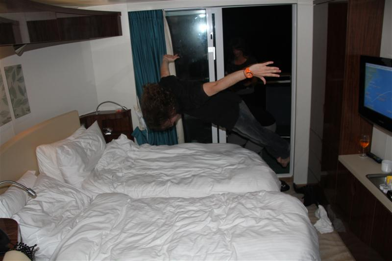Bed Jumping on Norvegian Epic